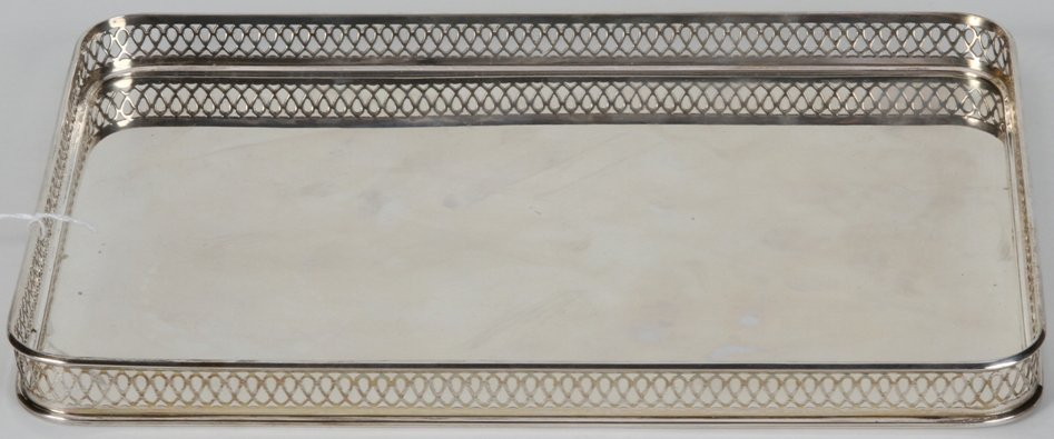 1011: ***TIFFANY & CO. STERLING SILVER RECTANGULAR TRAY