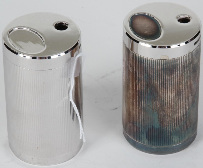 1013A: ***PAIR OF TIFFANY & CO. SILVER FINISH LIGHTERS