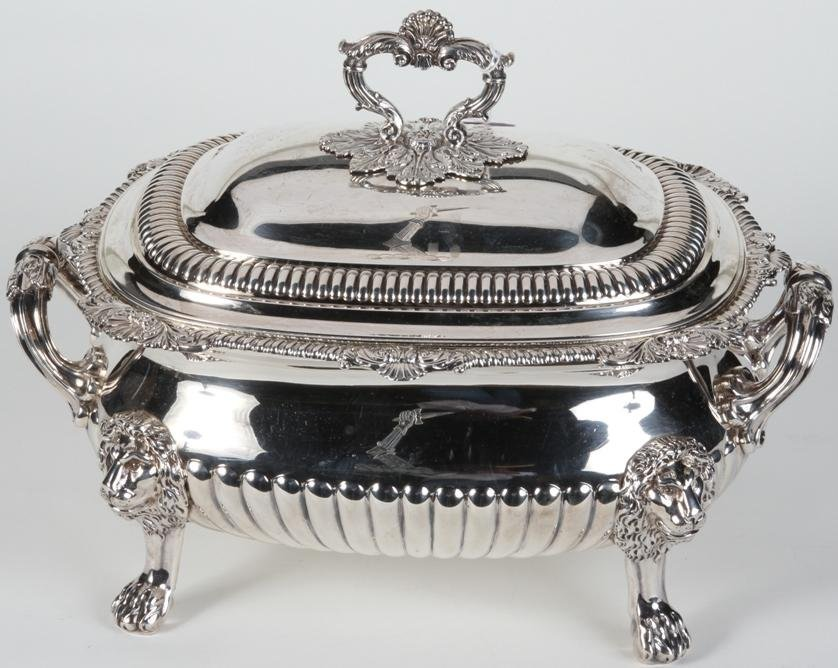 1020: ***ENGLISH STERLING SILVER TUREEN