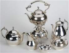 1033: ***MEXICAN 6 PIECE STERLING SILVER TEA & COFFEE S