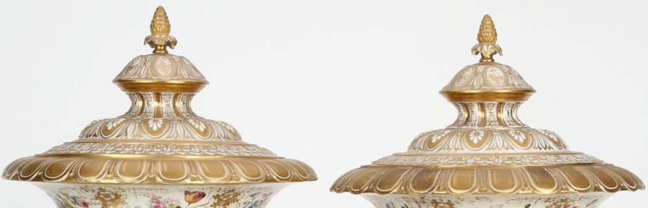 1251: ***PAIR OF 19TH C. RUSSIAN COVERED URNS - 2
