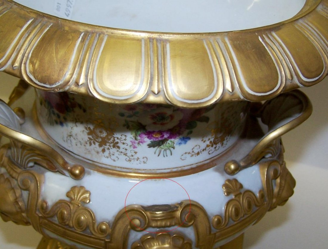 1251: ***PAIR OF 19TH C. RUSSIAN COVERED URNS - 9