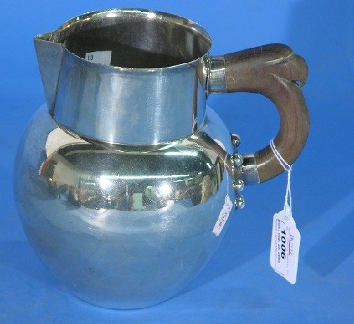 1006: SPRATLING MEXICAN STERLING SILVER PITCHER| Bulbou