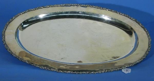 1009: SANBORNS MEXICAN STERLING SILVER OVAL TRAY| With