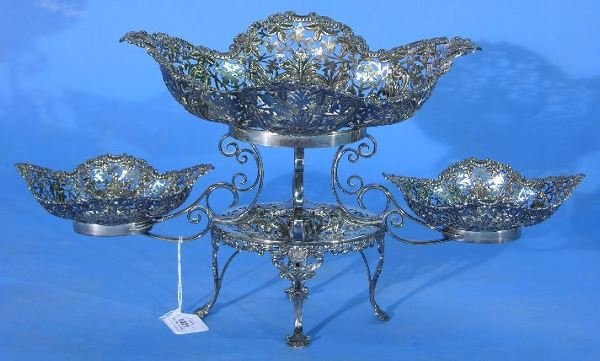1021: ENGLISH STERLING SILVER EPERGNE| Manufactured by
