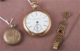 1479 GROUP Comprising ladys Elgin pendant watch jew