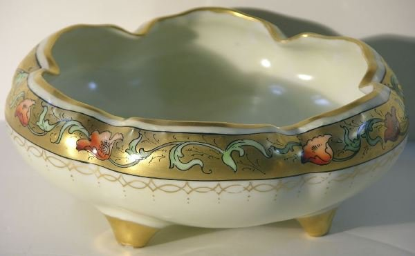 20: PICKARD PORCELAIN FOUR FOOTED BOWL