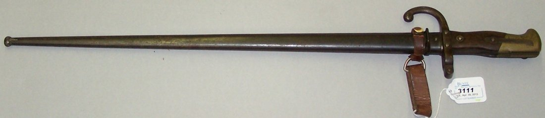 3111: ***FRENCH RIFLE BAYONET WITH SCABBARD