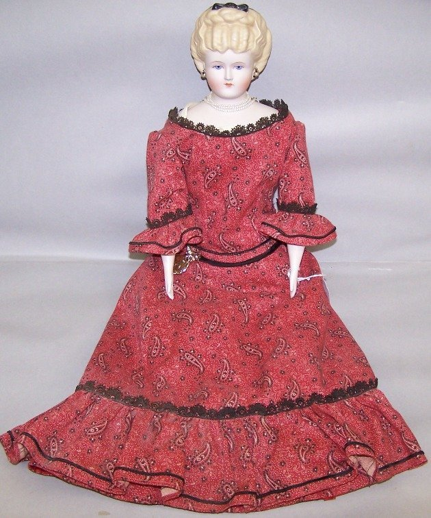 2055: ***EMMA CLEAR PARIAN WARE HEAD DOLL