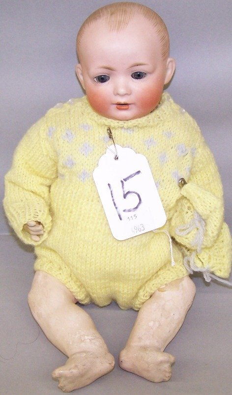 2068: BISQUE HEAD CHARACTER DOLL