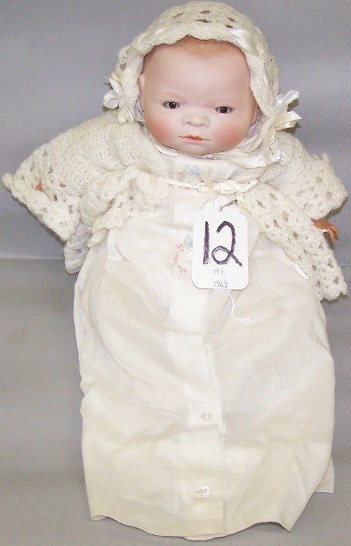 2073: BYE-LO BISQUE HEAD BABY DOLL