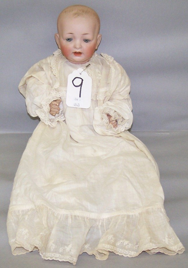 2002: BISQUE HEAD DOLL|| Having fixed eyes
