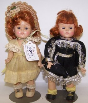 ***TWO VOGUE HARD PLASTIC DOLLS