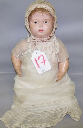 SCHOENHUT BISQUE HEAD DOLL