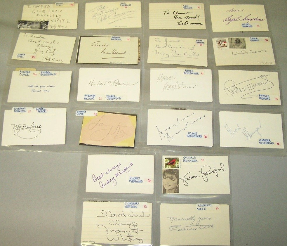 1001: ***THIRTY-EIGHT AUTOGRAPHS