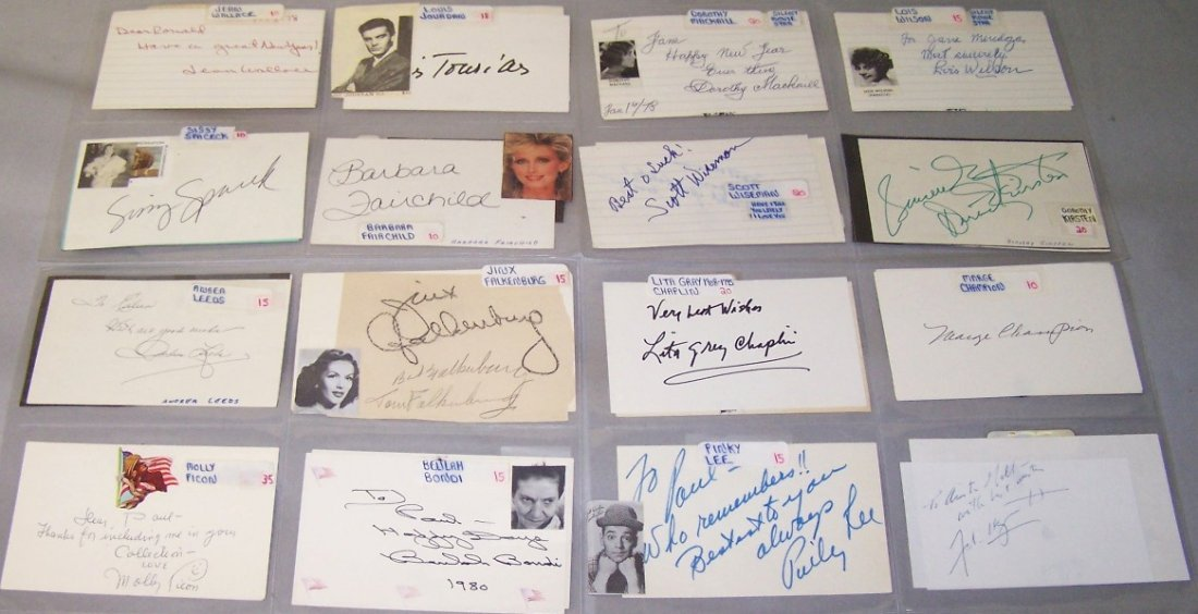 1007: ***THIRTY-ONE AUTOGRAPHED CARDS