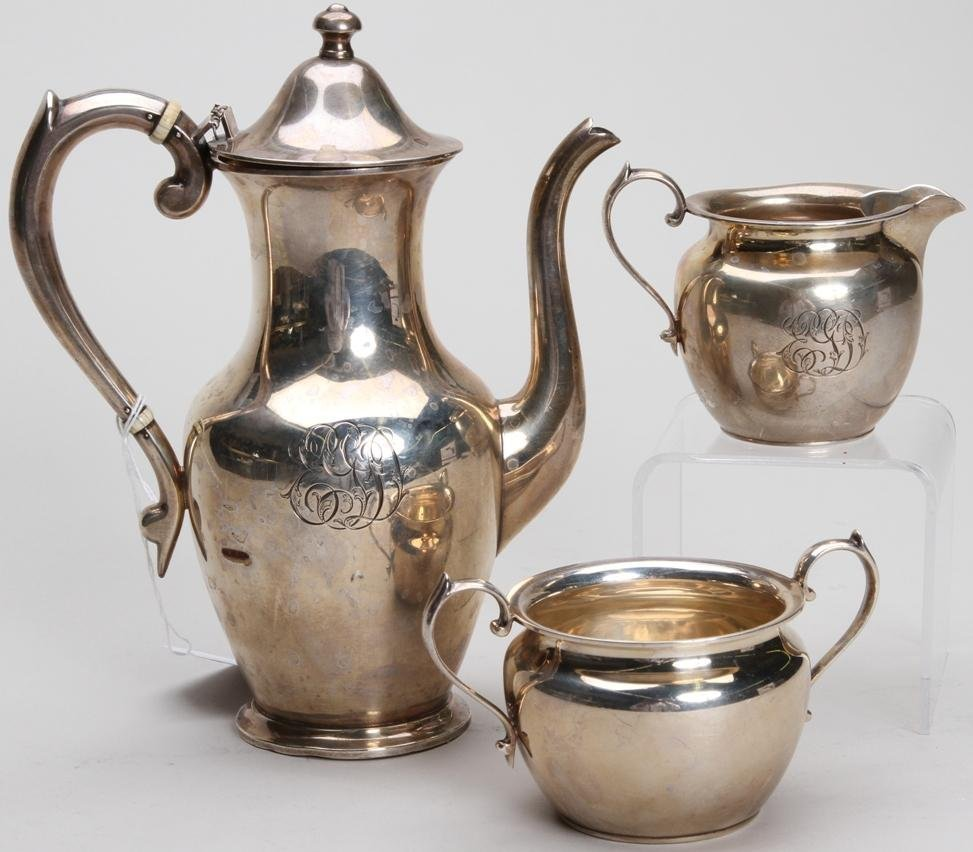 1008: ***S. KIRK AND SON STERLING SILVER THREE PIECE CO