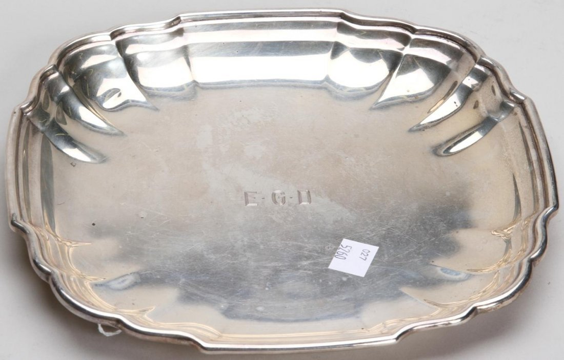 1011: ***AMERICAN STERLING SILVER TRAY