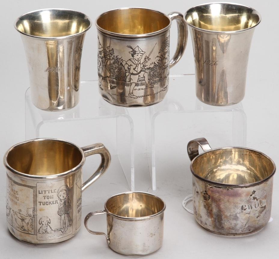 1020: ***SIX AMERICAN STERLING SILVER CUPS