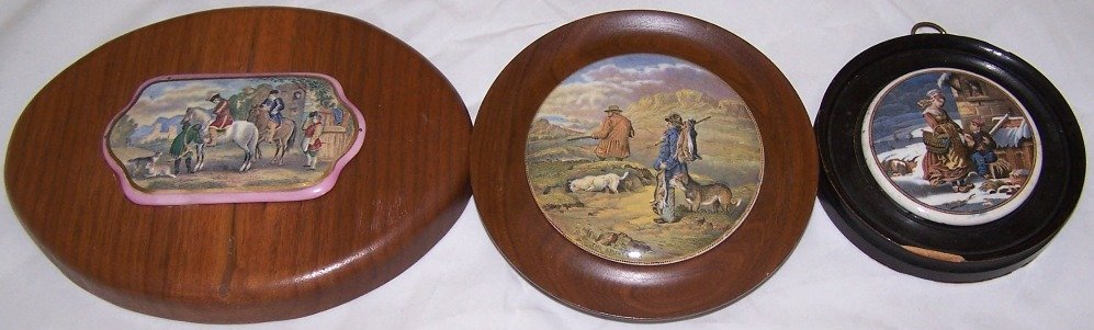 2: ***THREE 19TH C. POT LIDS