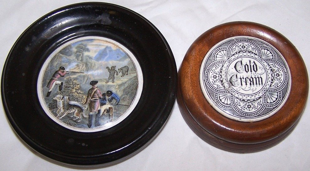 4: ***TWO 19TH C. POT LIDS
