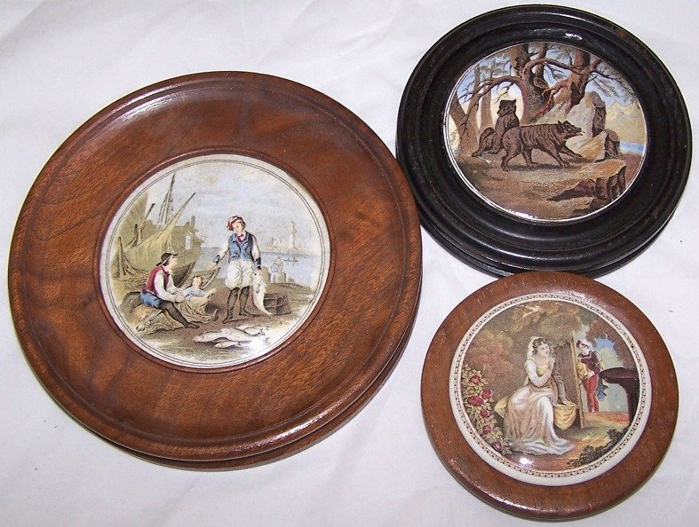 5: ***THREE 19TH C. POT LIDS