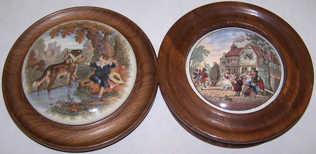8: ***TWO 19TH C. POT LIDS