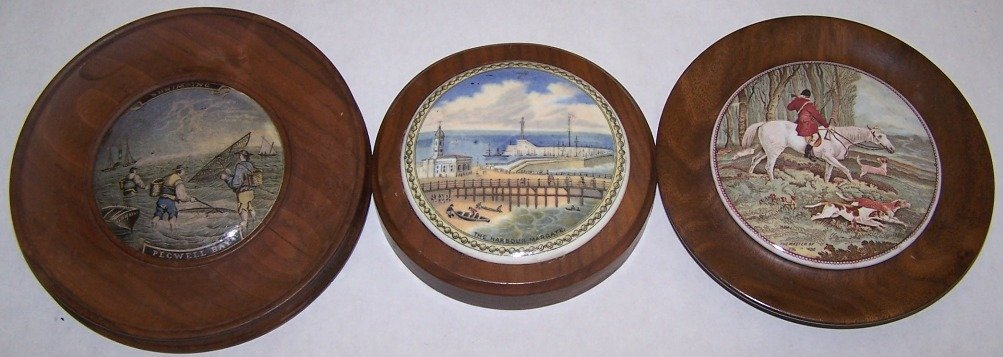 11: ***THREE 19TH C. POT LIDS
