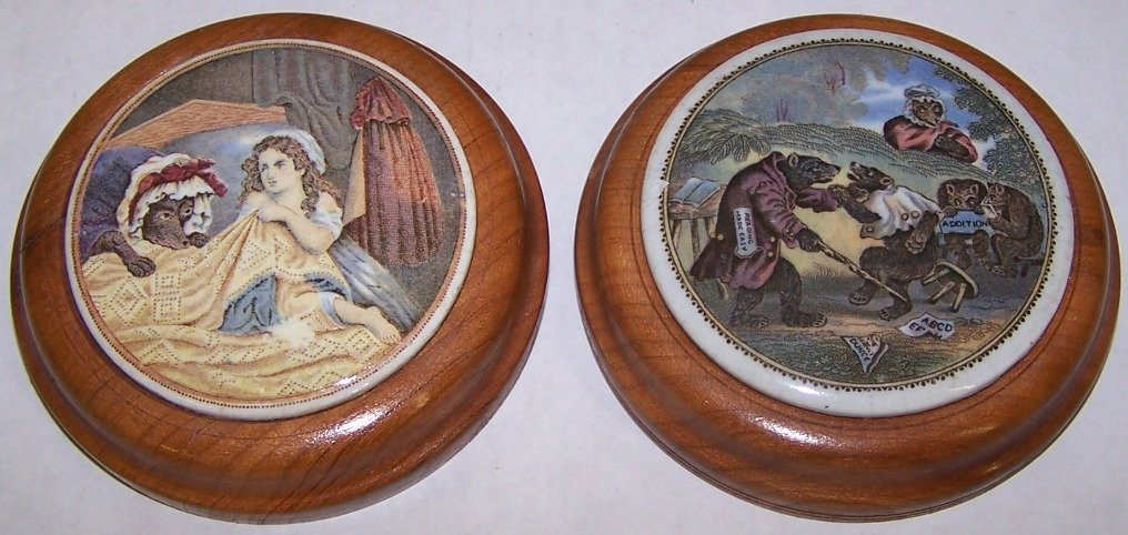 15: ***TWO 19TH C. POT LIDS