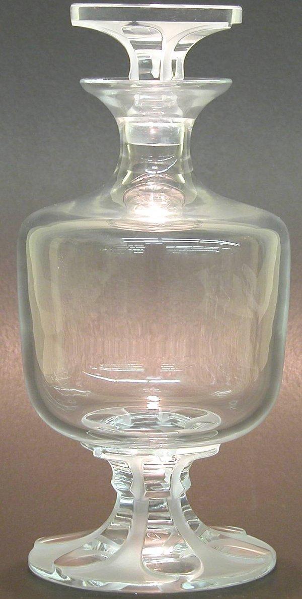 "1008: ***LALIQUE ART GLASS DECANTER ""Valencay"