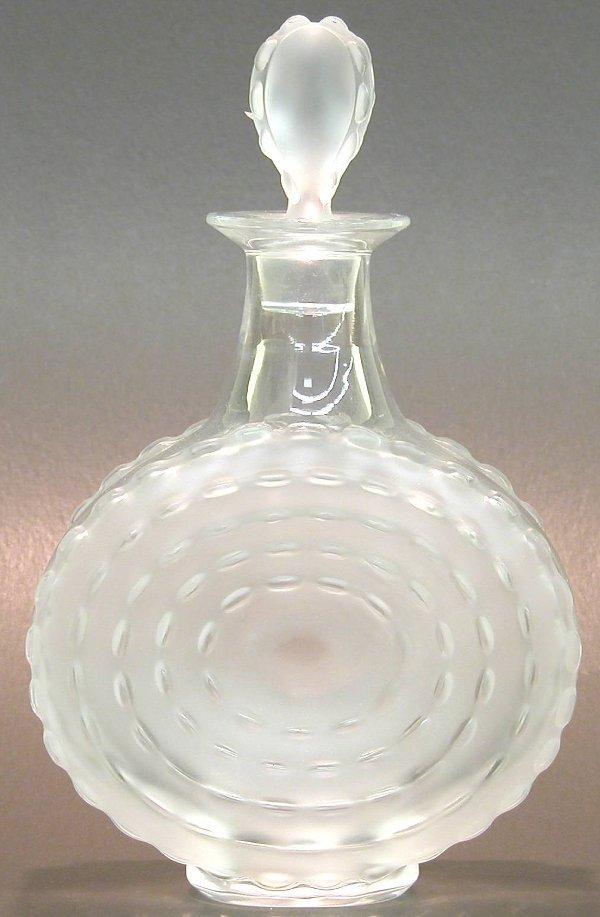 """1009: ***LALIQUE ART GLASS DECANTER """"Parme"""" p"""