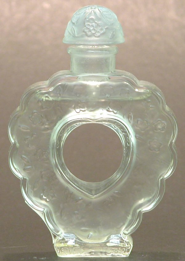 "1015: ***LALIQUE ART GLASS PERFUME BOTTLE ""Ni"