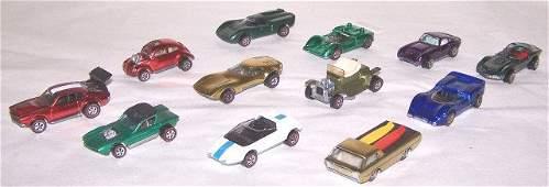 *12 HOT WHEELS REDLINE & JOHNNY LIGHTNING CARS
