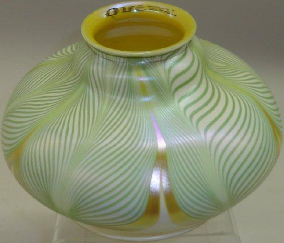 QUEZAL ART GLASS SQUAT FORM SHADE