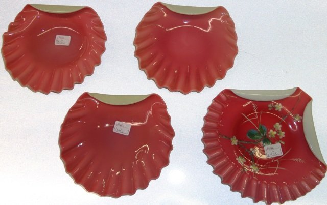 *4 VICTORIAN ART GLASS SELL FORM DISHES