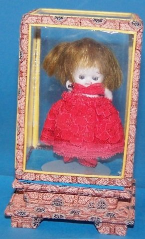 *MINIATURE ALL BISQUE DOLL