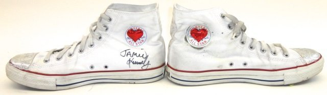 *PAIR OF JAMIE KENNEDY AUTOGRAPHED SHOES