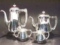 1054: FOUR PIECE KALO STERLING SILVER COFFEE