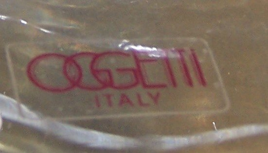 *OGGETTI ART GLASS SCULPTURE - 3