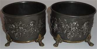 PAIR OF 19TH C. SILVERPLATE WINE COASTERS