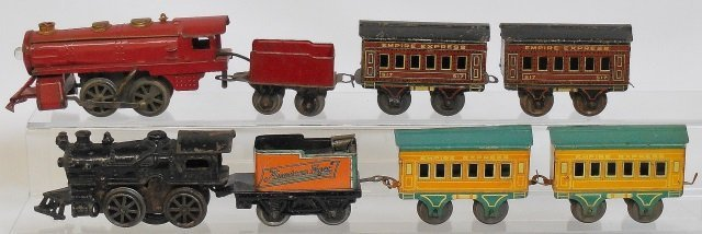 *AMERICAN FLYER WIND UPS WITH EMPIRE EXPRESS CARS