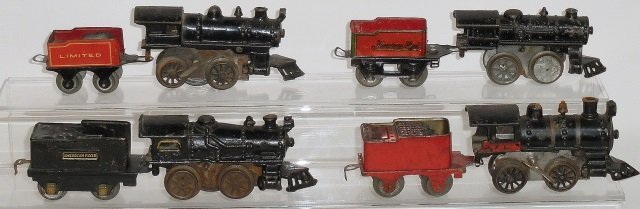 *GROUP OF AMERICAN FLYER WIND-UP LOCOMOTIVES