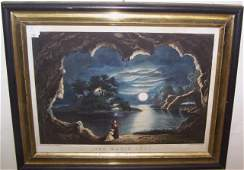 FRAMED CURRIER AND IVES PRINT