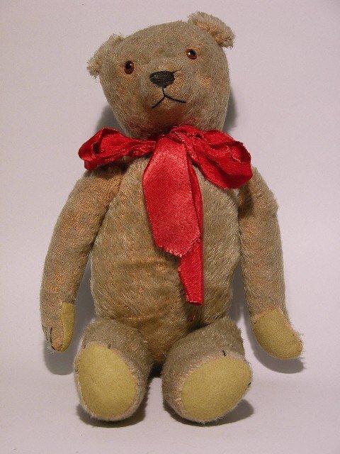 4: LARGE TEDDY BEAR| Beige mohair, glass eyes, fully jo
