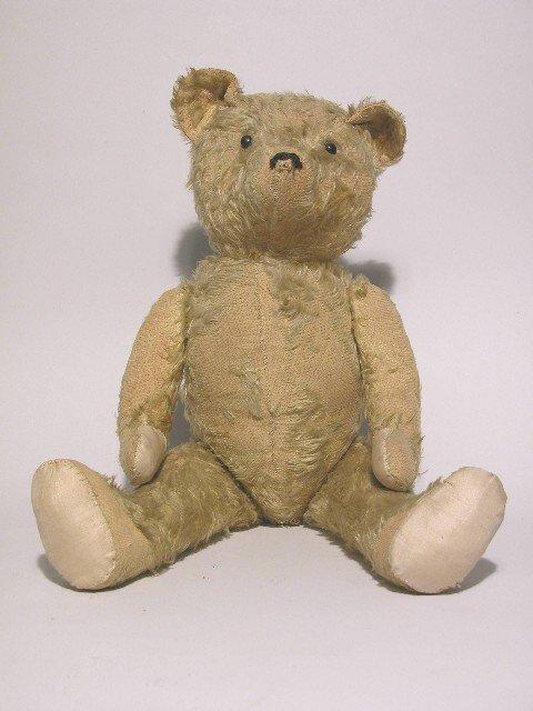 8: ***MOHAIR TEDDY BEAR| Beige mohair, shoe button eyes