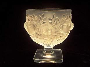 LALIQUE ART GLASS VASE