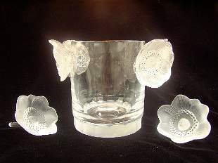LALIQUE ART GLASS CHAMPAGNE COOLER