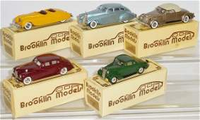 *5 BROOKLIN DIECAST MODEL CARS