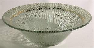 HIGGINS ART GLASS BOWL  ''Greenray'', signed with