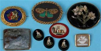 GROUP OF 19TH C JEWELRY